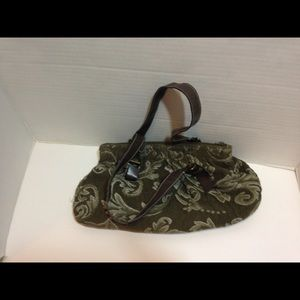 Handbags - Olive green purse with brown straps
